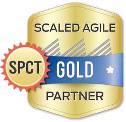 Scaled Agile Gold Partners who sponsor or employ certified SPCTs are awarded the Gold Partner SPCT Class badge.