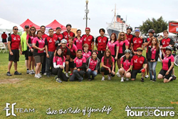El Clasificado's team at the tour de cure