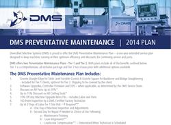 DMS CNC Routers Preventative Maintenance Plan