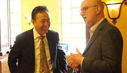 Dr. John Chao with Dr. Dennis Shanelec at the Chao Pinhole Gum Rejuvenation® Seminar in Alhambra, CA