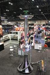 Fantasia's sixteen foot smoke blowing hookah built by Absolute Exhibits