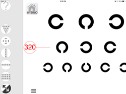 FLEX visual acuity is now a feature of Konan's Chart2020 DUO iPad app