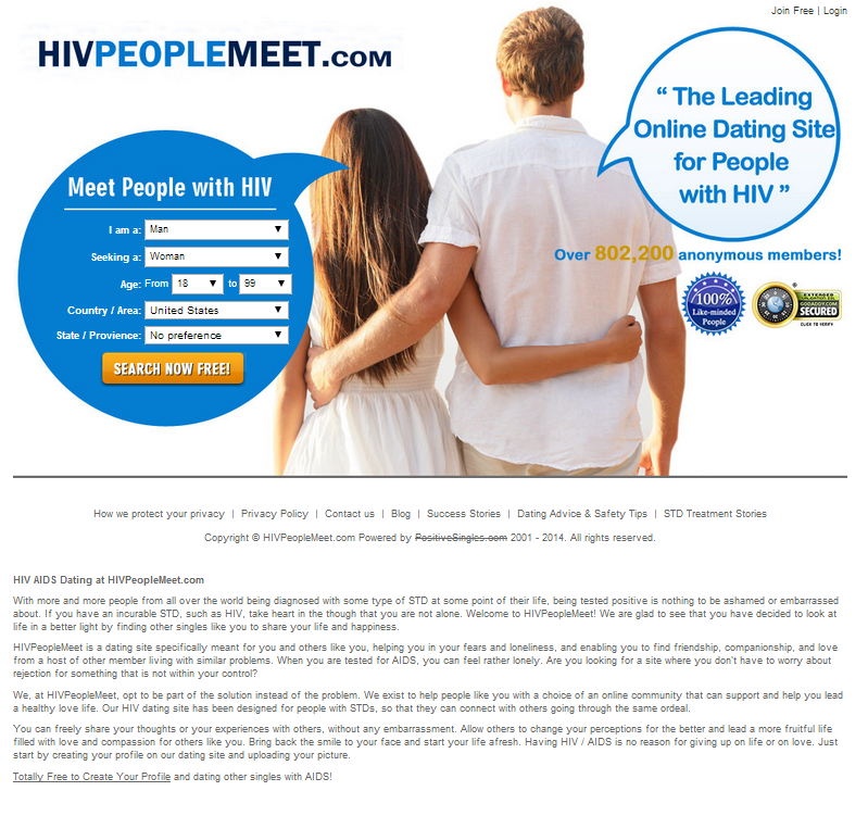 Dating site for people with aids