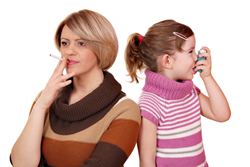 Smoking with children