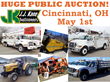 Cincinnati, OH, Huge Public Auction Thursday, May 1st, 2014, Fleet...