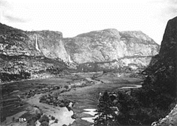 The Hetch Hetchy Valley Before the Construction of the O'Shaughnessy Dam