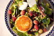 "Duke's Crab ""Un"" Cake Salad with frozen grapes"