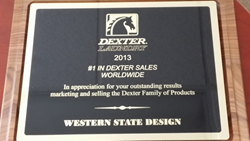 Dexter Laundry Equipment Sales Award