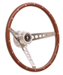 Retro Mustang Wood Steering Wheel