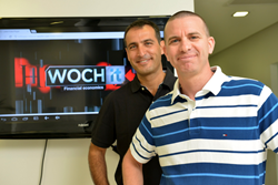 Wochit co-founders Ran Oz and Dror Ginzberg