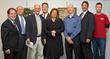L-R: Assemblyman Tom Abinanti; Robert Glazer; Greenburgh Town Supervisor Paul Feiner; David Goldwasser; Lisa LaRocca; Cory Deitchman; Steve Wolfert; and Leo Garrison.