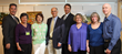 L-R: David Goldwasser; HLAA member Leslie Berger; Secretary Debbie Dolgin Wolfe; Greenburgh Town Supervisor Paul Feiner; Steve Wolfert; President Roberta Seidner; VP Anita Goldwasser; Cory Deitchman.