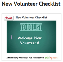 Volunteer onboarding checklist