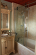 VIGO VG6041 Shower Door in Hibiscus House Room