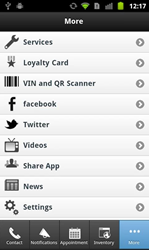 Campkins Android app