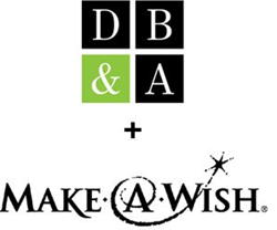 DB&A and Make-A-Wish Logos