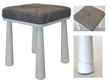 Bjornsson White StoolOcean Leather Home Furnishings Collection