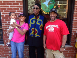 Stevie Wonder visits The Land of Kush restaurant