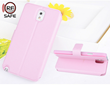Pink Samsung Galaxy Note 3 flip cover case with RF Safe Shielded Flip Cover and video kickstand