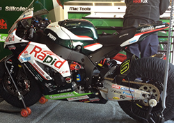 C4L's branding on winner Shane Byrne's bike