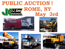 Public Auction in Rome NY (Syracuse Area) No Reserve!  Used Bucket Trucks, Digger Derricks, Forestry Equipment And More