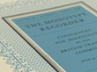 Cover of the Monotype Recorder, Vol. 41, No. 2, 1958, featuring patterns built from individually cast border elements. Image courtesy of Monotype