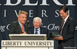 Liberty University President Falwell Presented with 2014 Pilgrim...