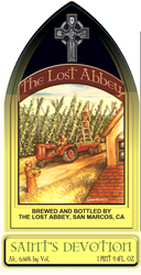 The Lost Abbey, Saint's Devotion beer label