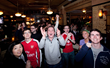World Cup 2014 Soccer Fans at Fadó Irish Pub in Center City Get a...