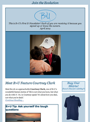 B>U sends out inspirational newsletter