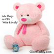 Giant Teddy Pink Bear Lulu Shags Mike & Molly CBS TV