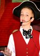 "John is very convincing as Gaston's sidekick ""Lefou""!"