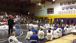 Crowd and competitors at the Ohio KidJitsu Tournament