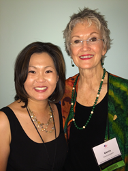Heidi Kim, the 2014 National Young Mother of the Year, and Gerre Schwert, the 2014 National Mother of the Year
