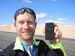 James Ketchell logs into his network from the desert via a smartphone