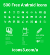 Preview of some of the Android icons created by Icons8