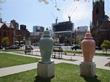 Nine-Foot Sculptured Vases Once Again Adorn Entrance to Newark Museum