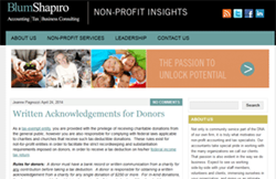 Accounting blog for non-profits