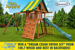 Cedar swing sets wooden swing sets Best in Backyards​