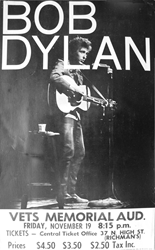 1965 Bob Dylan Vets Memorial Concert Poster
