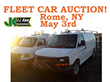 Syracuse, NY,  Public Car Auction Saturday, May 3rd, 2014, Selling  Fleet Fleet Vehicles from National Grid USA, New York State Electric, Rochester Gas, And Others