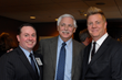 Welch Group President Richard Welch (center) congratulates Allerton House at Central Park's leadership team; Paul Casale Jr. (left), executive director and Al Ewing (right), marketing director.