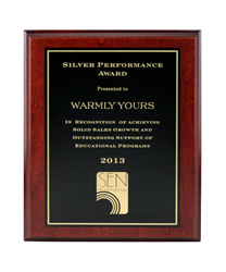 WarmlyYours Radiant Heating is recognized by the SEN Design Group with the Silver Performance Award.