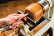 The tool shaft features a flattened back for stability when using the tool rest.