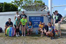 "Students who participated in the BVU ""Children and Poverty"" AWOL trip"