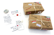 Tiny letters and packages made with the World's Smallest Post Service: DIY Activity Kit