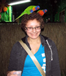Natalie Hill with Lorikeets at Portland Aquarium