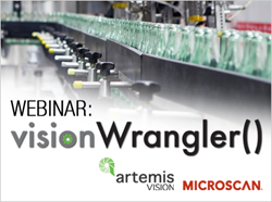 Microscan hosts a webinar by Microscan Partner Artemis Vision introducing their new turnkey production management system, Vision Wrangler.