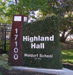 Highland Hall Entrance
