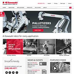 Redesigned Website Enhances User Experience www.kawasakirobotics.com